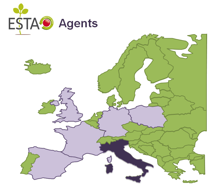 ESTA Agents map